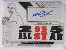 2016 Topps Triple Threads White Whale Wade Davis autograph patch 1/1 *69253