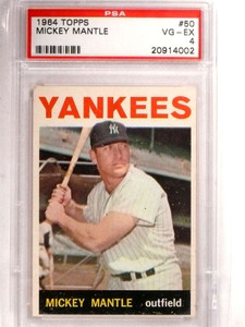 1964 Topps Mickey Mantle #50 PSA 4 VG-EX *69201