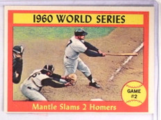 1961 Topps World Series Mickey Mantle #307 EX *69306