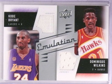 2008-09 Upper Deck Emulation Kobe Bryant Dominique Wilkins dual jersey *69292