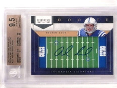 2012 Prominence NFL Field Andrew Luck autograph rc rookie #D8/80 BGS 9.5 *69200