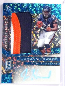 2016 Spectra Jordan Howard autograph auto 3clr patch rc rookie #D34/60 *69290
