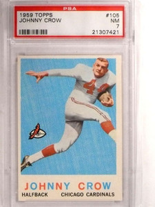 1959 Topps Johnny John David Crow rc rookie #105 PSA 7 NM *69213