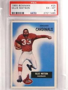 1955 Bowman Ollie Matson #25 PSA 6 EX-MT *69214