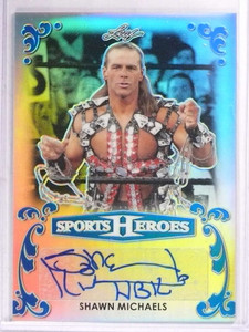 2017 Leaf Sports Heroes Metal Blue Shawn Michaels autograph auto #D7/10 *69267
