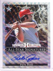 2017 Leaf Sports Heroes All-Star Signatures Pete Rose autograph #D22/25 *69316