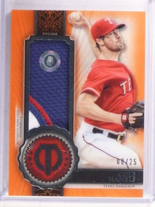 2017 Topps Tribute Orange Cole Hamels 3 color patch #D08/25  *69414