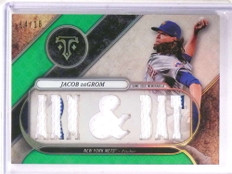 2017 Topps Triple Threads Jacob Degrom jersey #D14/18 #TTR-JE5 *69435