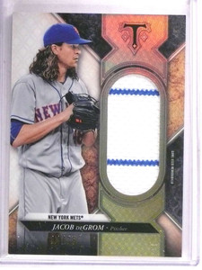2017 Topps Triple Threads Jacob Degrom jersey #D34/36 #SJR-JDR *69471