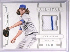 2015 National Treasures All-Star Jacob Degrom jersey #D07/99 #17 *69571