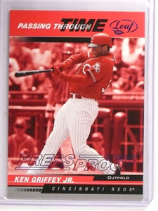 2005 Leaf Passing Through Time Blue Press Proof Ken Griffey Jr. #D14/75 *69463