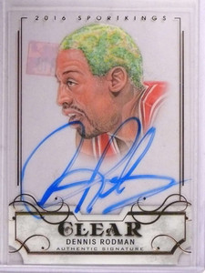 2016 Leaf Sportkings Clear Dennis Rodman autograph auto #SK-DR1 *69318