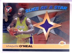 2001-02 Topps Pristine Slice OF A Star Shaquille O'neal jersey #S-SO *69321
