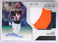 2017 Panini Certified Joe Mixon 3 color patch autograph auto rc #D367/499 *69363