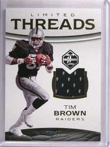 2016 Panini Limited Threads Tim Brown jersey #D75/99 #1 *69494