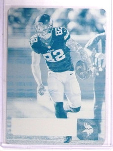 2016 Panini Prestige Kyle Rudolph Cyan Printing Plate #D 1/1 *69477