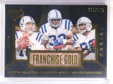 2016 Black Gold Franchise Gold Peyton Manning James Harrison #D215/225 *69568