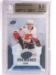 2016-17 Upper Deck Ice Matthew Tkachuk rc rookie #D11/99 #194 BGS 9.5 *69583