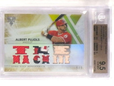 2015 Topps Triple Threads Albert Pujols 3clr patch bat #D5/9 BGS 9.5 *69600