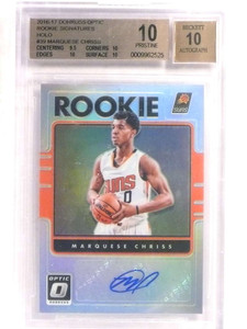 2016-17 Donruss Optic Holo Marquese Chriss autograph auto rc #39 BGS 10 *69603