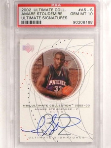 2002-03 Ultimate Collection Signatures Amare Stoudemire autograph PSA 10 *69609