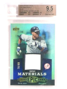 2006 Upper Deck Epic Materials Blue Derek Jeter jersey #D78/99 BGS 9.5 *69612