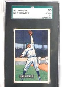 1951 Bowman Phil Rizzuto #26 SGC 35 = 2.5 Good+ *69616