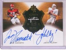 2013 Ultimate Signatures Joe Namath John Elway autograph auto #D02/15 *69618