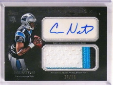 2011 Topps Inception Cam Newton autograph auto 3clr patch rc #D14/75 *69635