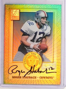 2000 Donruss Elite Passing The Torch Roger Staubach autograph #D147/1500 *69637