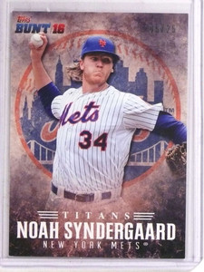 2016 Topps Bunt Player Code Cards Noah Syndergaard #D05/25 SUPER RARE! *69651