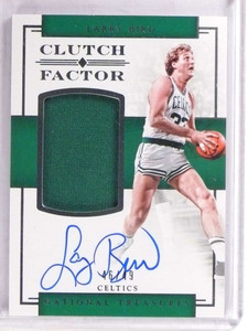 2016-17 National Treasures Clutch Factor Larry Bird autograph jersey #/49 *69653