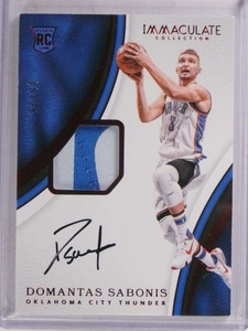 2016-17 Immaculate Domantas Sabonis autograph patch rc #D08/25 #119 *69666