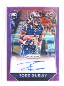 2015 Panini Prizm Violet Todd Gurley autograph auto rc rookie #rs-TG *69781