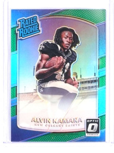 2017 Donruss Optic Green Prizm Alvin kamara rc rookie #D4/5 #199 *69780