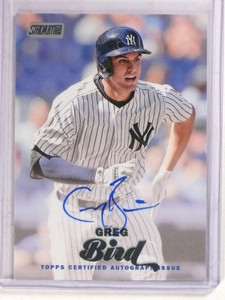 2017 Topps Stadium Club Greg Bird autograph auto #SCA-GB *69798 ID: 16647