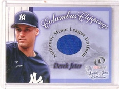 2001 Fleer Legacy Derek Jeter Leagacy Collection Columbus Clipping jersey *69741 ID: 16659