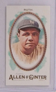 2017 Topps Allen & Ginter Mini Brooklyn Back Babe Ruth #D16/25 #4 *69722 ID: 16670