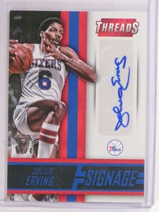 2014-15 Panini Threads Sinage Julius Erving autograph auto #D04/49 #48 *69702 ID: 16688