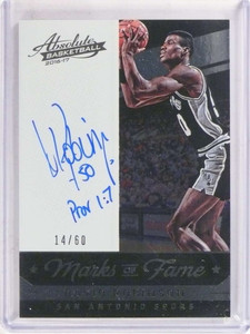 2016-17 Panini Absolute Maks Of Fame David Robinson autograph auto #D/60 *69808 ID: 16693