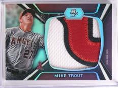 2012 Bowman Platinum Mike Trout jumbo 3 color patch #D4/5 #JP-MT *69959