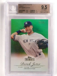 2012 Topps Tribute Green Derek Jeter #D57/75 #35 BGS 9.5 GEM MINT *69954
