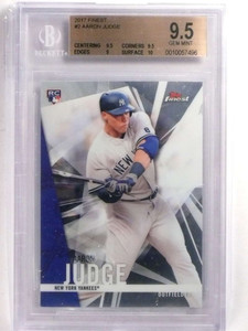 2017 Topps Finest Aaron Judge rc rookie #2 BGS 9.5 GEM MINT *69940