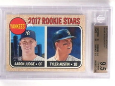 2017 Topps Heritage Aaron Judge rc rookie #214 BGS 9.5 GEM MINT *69942