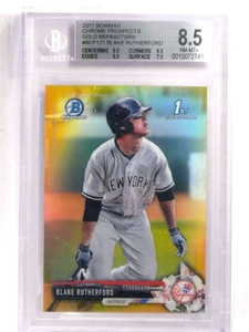 2017 Bowman Chrome Gold Refractor Blake Rutherford rc rookie #D31/50  *69947