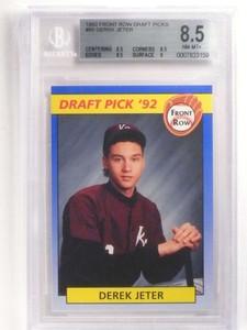1992 Front Row Draft Derek Jeter rc rookie #55 BGS 8.5 NM-MT+ *69952