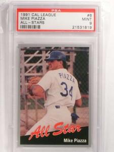 1991 California League All-Stars Mike Piazza rc rookie #6 PSA 9 MINT *69953