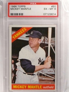 1966 Topps Mickey Mantle #50 PSA 6 EX-MT Yankees *69928