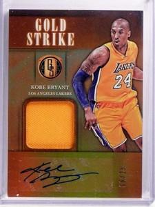 2016-17 Panini Gold Standard Gold Strike Kobe Bryant autograph jersey /25 *69965