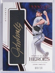 2016 Panini Immaculate Heroes Red John Smoltz Autograph auto #D08/10 *57669